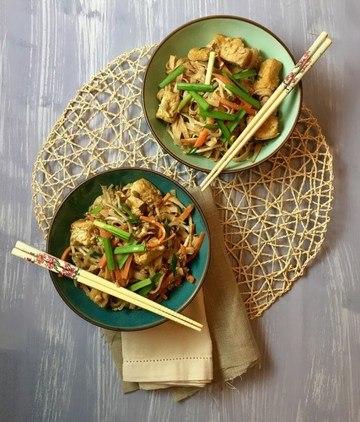 Rezept Pad Thai – gebratene Reisnudeln mit Tofu