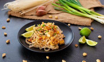 Rezept Pad Thai mit Garnelen (Thailändische Reisbandnudeln)