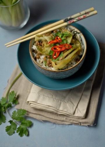 Rezept Pak Choi mit Lammhackfleisch