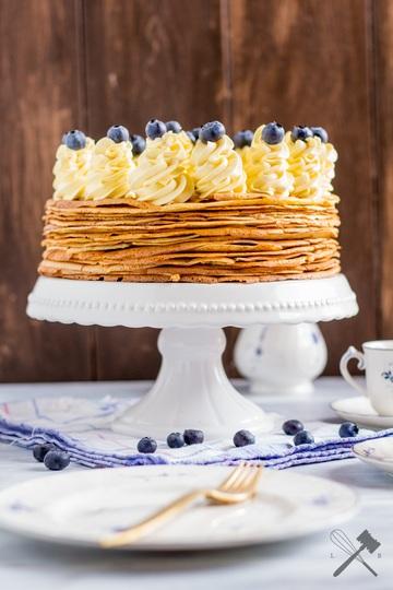 Rezept Palatschinken Torte mit Schokofüllung