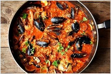 Rezept Paleo  Chorizo & Meeresfrüchte Paella