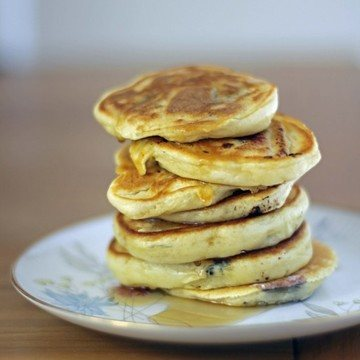 Rezept Pancakes mit Beeren und Banane