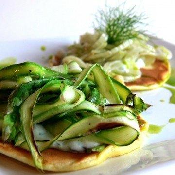 Rezept Pancakes mit gebackenen Gemüsestreifen