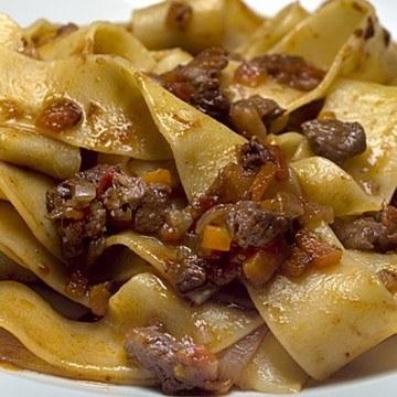 Rezept Pappardelle mit Hirsch-Ragù