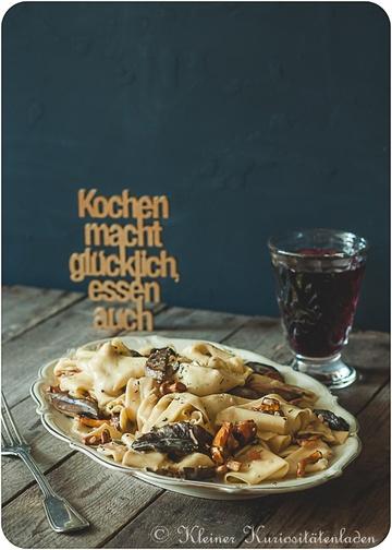 Rezept Pappardelle mit Pilzen und Tiroler Speck