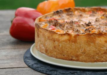 Rezept Paprika Hackfleisch Kuchen