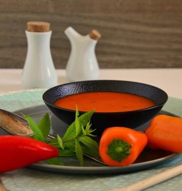 Rezept Paprika Melonen Suppe