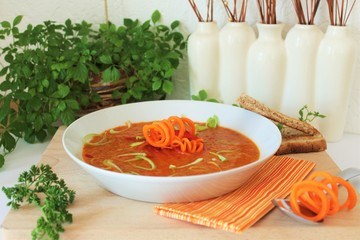 Rezept  Paprika-Safran-Suppe