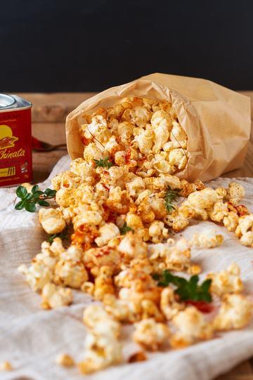Rezept Paprika Thymian Popcorn
