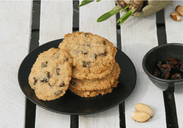 Rezept Paranuss Cranberry Cookies mit Haferflocken