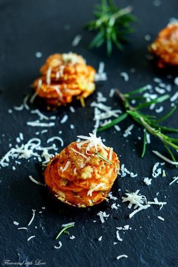 Rezept Parmesan-Süßkartoffel-Türmchen