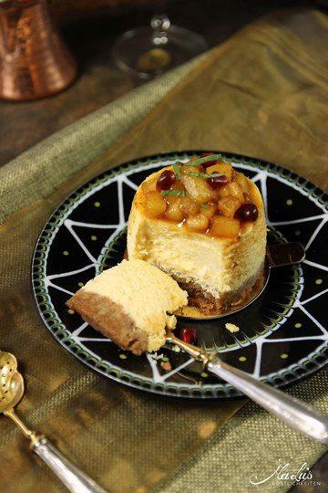 Rezept Passionsfrucht Cheesecake Törtchen mit Gewürzananas
