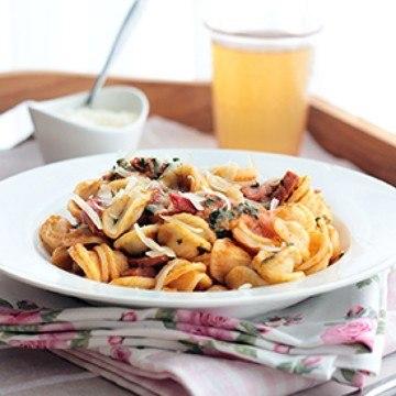 Rezept Pasta á la Italia mit Salsiccia und Spinat