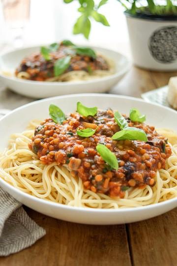 Rezept Pasta alla Puttanesca mit Linsen