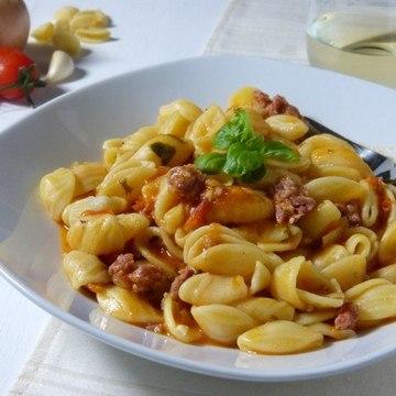 Rezept Pasta con salsiccia e pomodorini