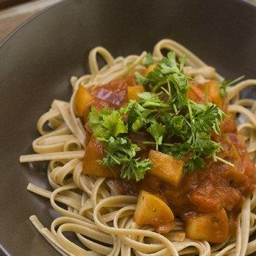 Rezept Pasta mit Apfel-Zimt-Sauce