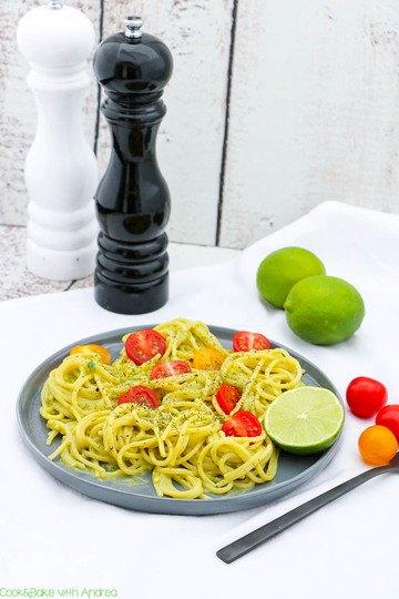 Rezept Pasta mit Avocado-Limetten-Sauce
