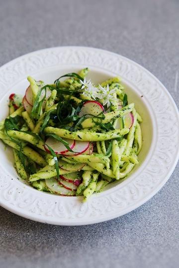 Rezept Pasta mit Bärlauch und Radieschen