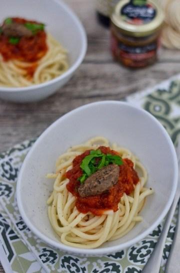 Rezept Pasta mit Cotechino in Tomatensauce