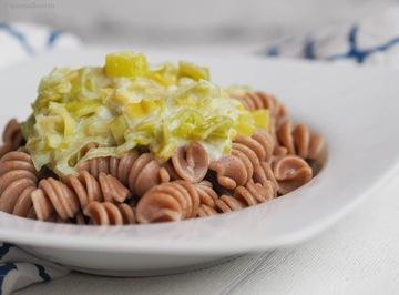 Rezept Pasta mit Feta-Lauch-Sauce