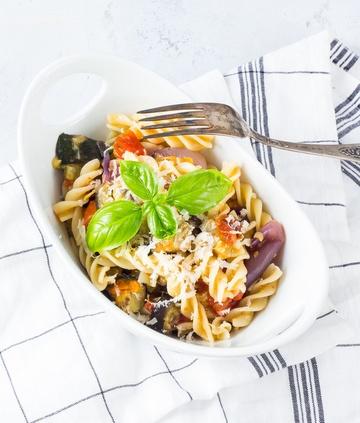 Rezept Pasta mit geschmortem Gemüse