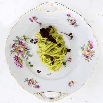Rezept Pasta mit Grünspargelpesto