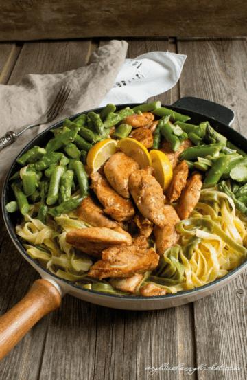 Rezept Pasta mit Huhn und Spargel in Zitronensauce