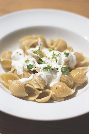 Rezept Pasta mit Joghurt und Kreuzkümmel-Öl