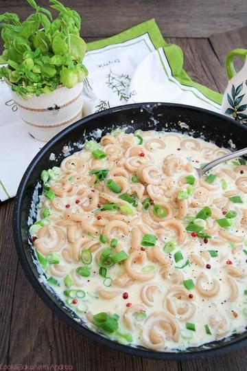 Rezept Pasta mit Knoblauch-Käse-Sauce