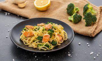Rezept Pasta mit Lachs und Brokkoli