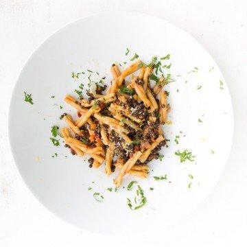 Rezept Pasta mit Linsen-Ragout