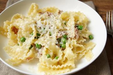 Rezept Pasta mit Parmaschinken und Sahnesoße