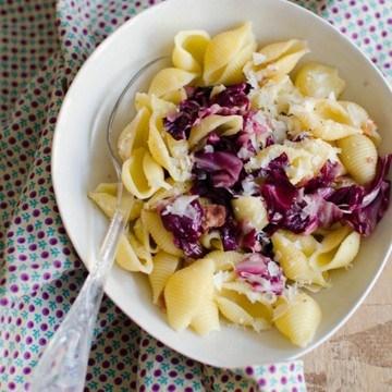 Rezept Pasta mit Radicchio und Speck