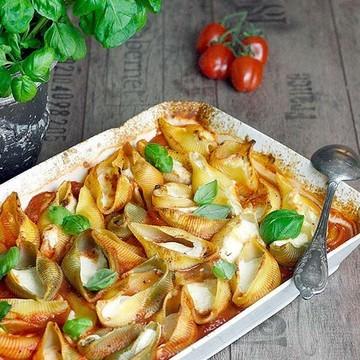 Rezept Pasta mit Schmortomaten und Ricotta