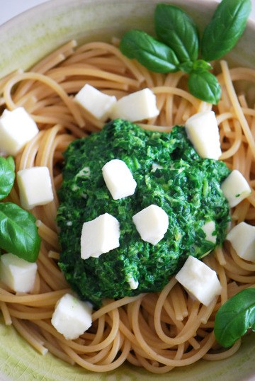 Rezept Pasta mit Spinat & Mozzarella