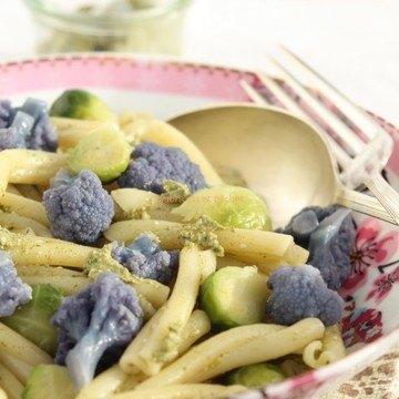 Rezept Pasta mit Spinat-Ziegenkäse-Pesto