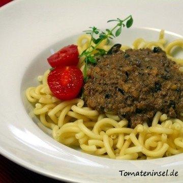 Rezept Pasta mit Walnuss-Oliven-Soße