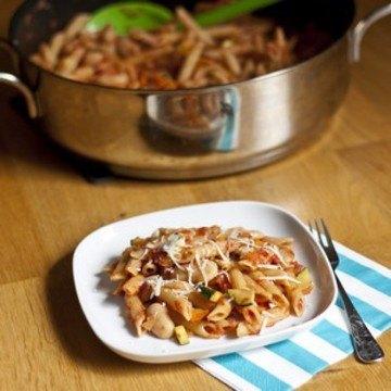 Rezept Pasta mit Weissen Bohnen und Gemüse