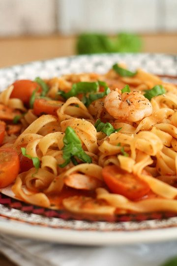 Rezept Pasta Scampi in 10 Minuten