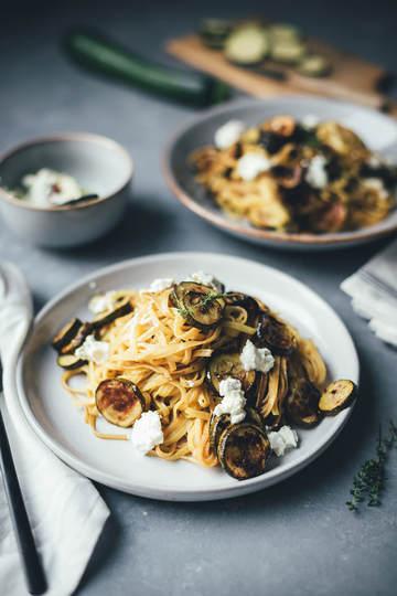 Rezept Pasta und Ofen-Zucchini mit Aceto Balsamico