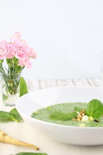 Rezept Pastinaken-Spinat-Suppe mit Ei
