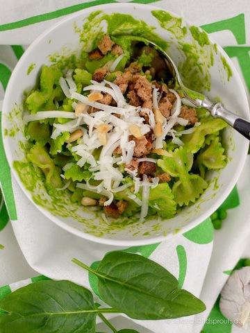 Rezept Pea & Popeye Pesto Pasta nach Jamie Oliver