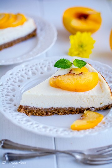 Rezept Peach-Ricotta-Cheesecake
