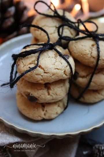 Rezept Peanut Butter Cookies - Erdnussbutter-Plätzchen