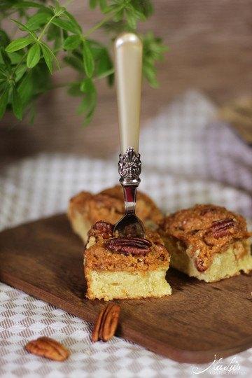 Rezept Pecancrumble Kuchen mit Dulce de leche