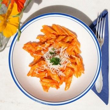 Rezept Penne mit Paprika Mandel Sauce