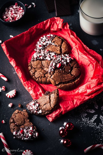 Rezept Peppermint Brownie Cookies