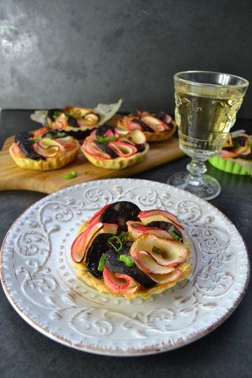 Rezept Pfälzer Blutwurst-Quiche mi Apfelrosen