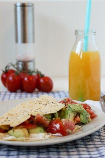 Rezept Pfannkuchen mit Avocado-Tomaten-Salsa