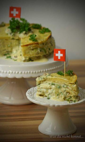 Rezept Pfannkuchentorte mit Raclette Suisse Creme
